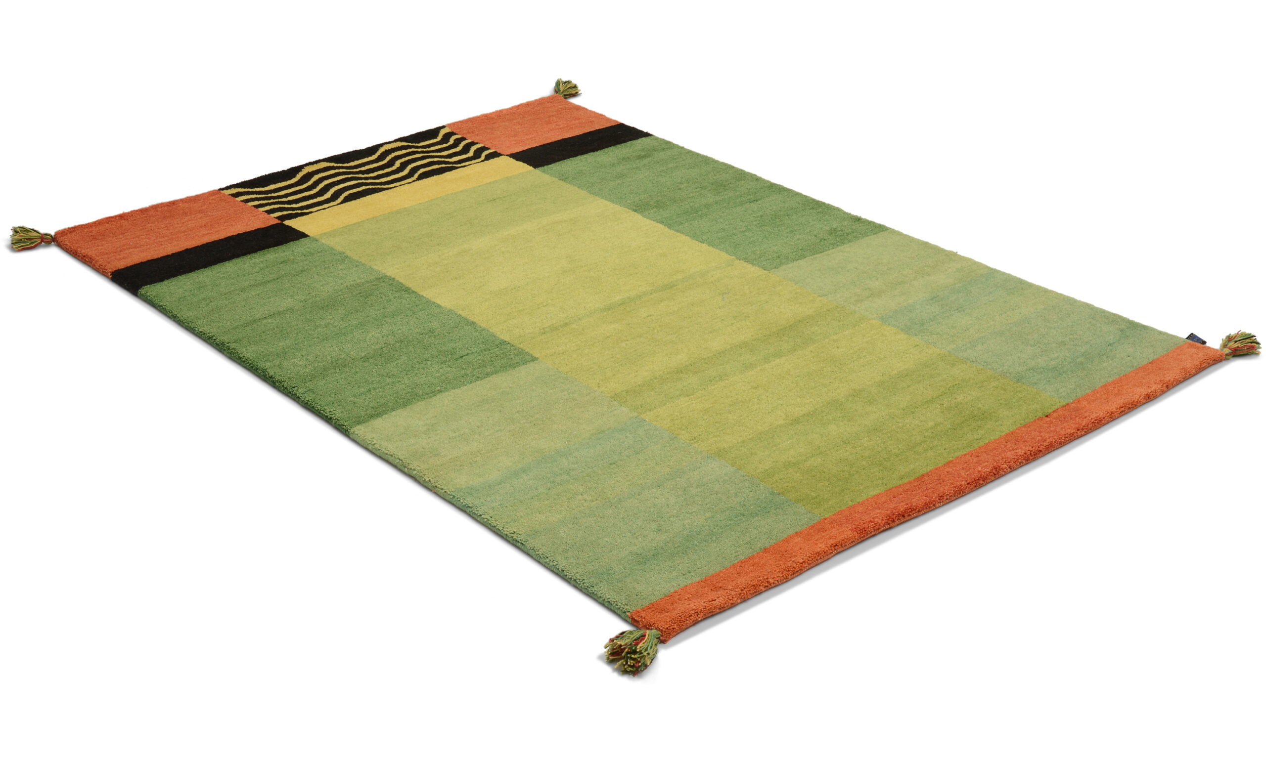 Moder Jord grønn - håndknyttet teppe