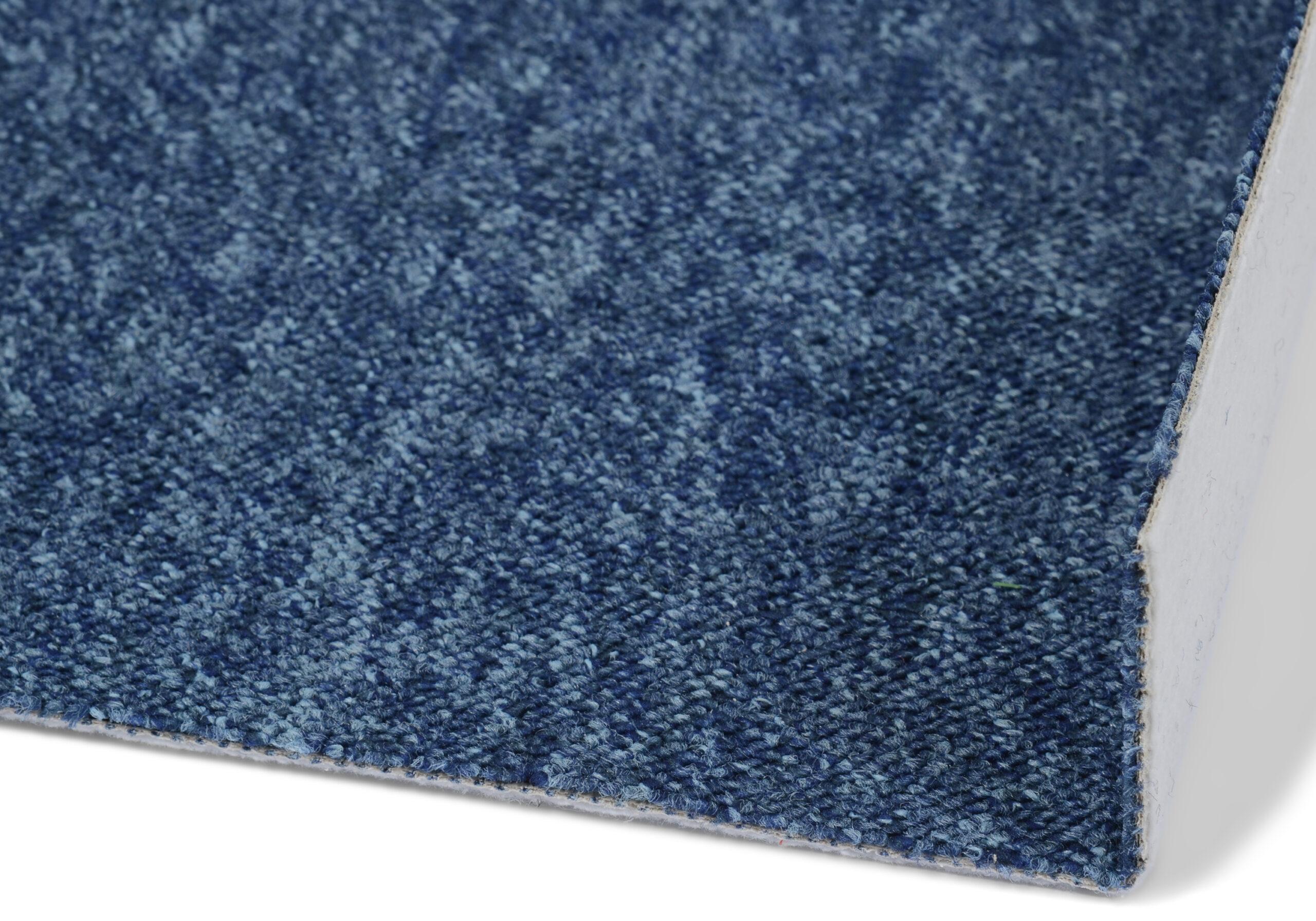 Atlas blå - vegg-til-vegg-teppe