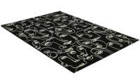 Ink Face svart - maskinvevd teppe